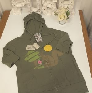 3/$15 A Fine Mess olive green hoodie jacket size M